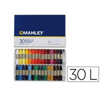 Caja 30 cera blanda de Colores Manley Multicolor