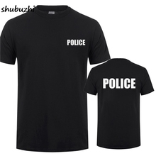 POLICE SWAT SECURITY Printing T-Shirt For Man Woman CSI Fancy Dress Novelty Cops Workwear