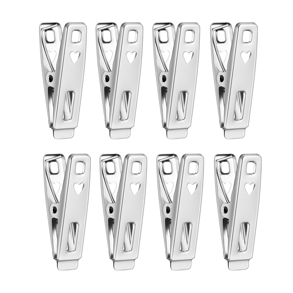 BESTOMZ 40pcs Clothes Pins Stainless Steel Metal Clothes Drying Hanger for Socks