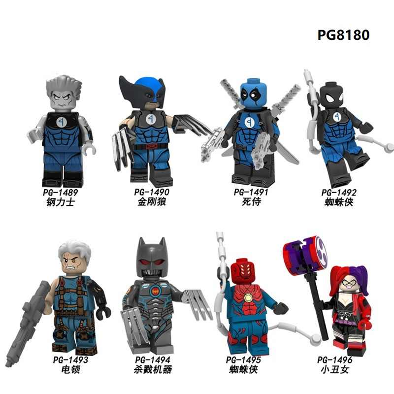 Building Blocks Super Heroes Colossus Wolverine Deadpool Spider-Man The Murder Machine Bricks Figures For Children Toys PG8180