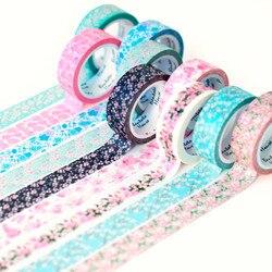 15 cores Sakura Romântico fita washi decorativo DIY scrapbooking mascaramento fita adesiva fita autocolante papelaria 15MM * 7M