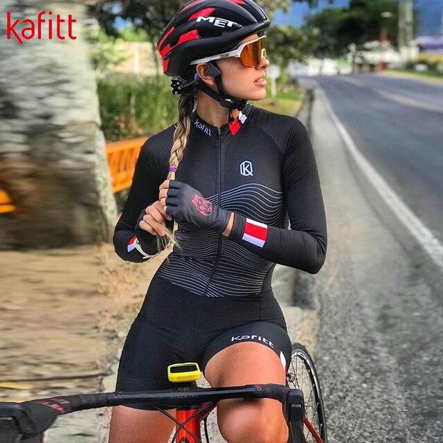 Kafitt triathlon ciclismo jérsei terno senhoras ciclismo sexy apertado fina de manga curta correndo maiô macaquinho feminino 4