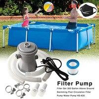 Bomba de filtro para piscina bomba de filtro de piscina eléctrica, bomba de filtro para piscina, filtro de piscina reutilizable duradero, purificador de agua, mangueras de bomba de filtro EU UK US