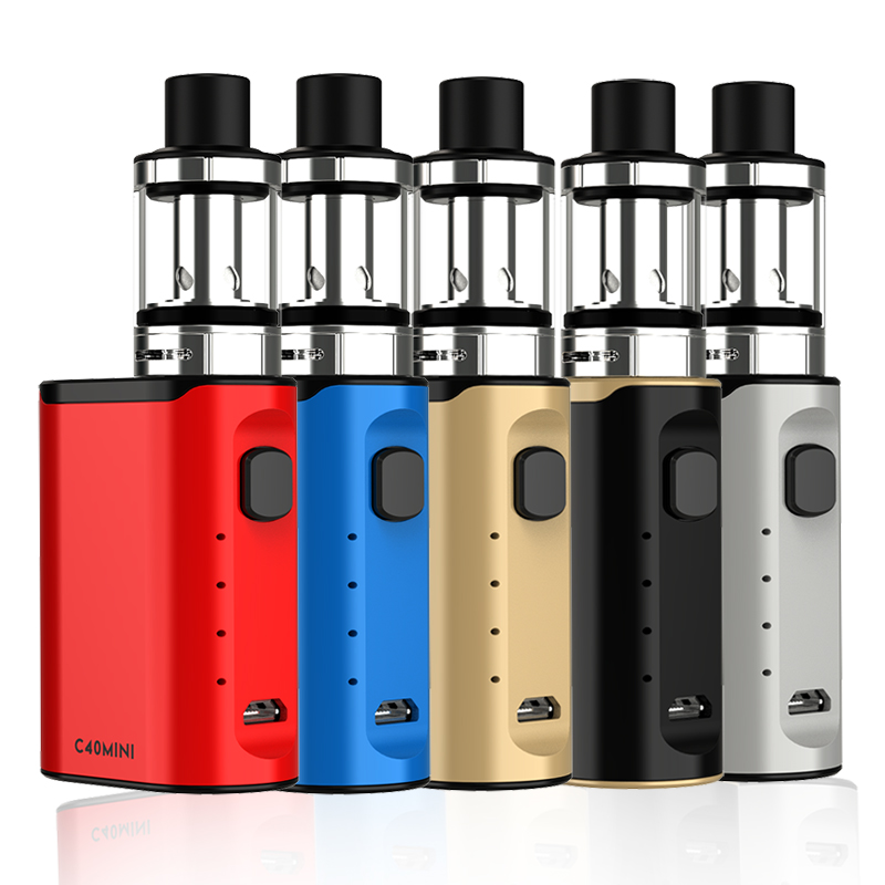 ECT C40 Mini E Cigarette Start Kit Built-in Battery With 2ml Atomizer Electronic Cigarette Huge Fog Vape Vaporizer VS SUB TWO