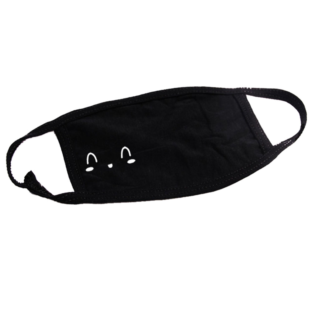 10 Pcs Air Pollution Warm Mouth Mask Cartoon Pattern Winter Dust Proof Cotton Blend Protection Outdoor Reusable Fashion Face