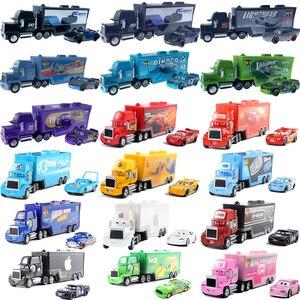 Disney Pixar racing 3 2 Toy Lightning McQueen Mack Uncle Plastic Metal Die-casting Truck Toys Children's Boys Educational Toys