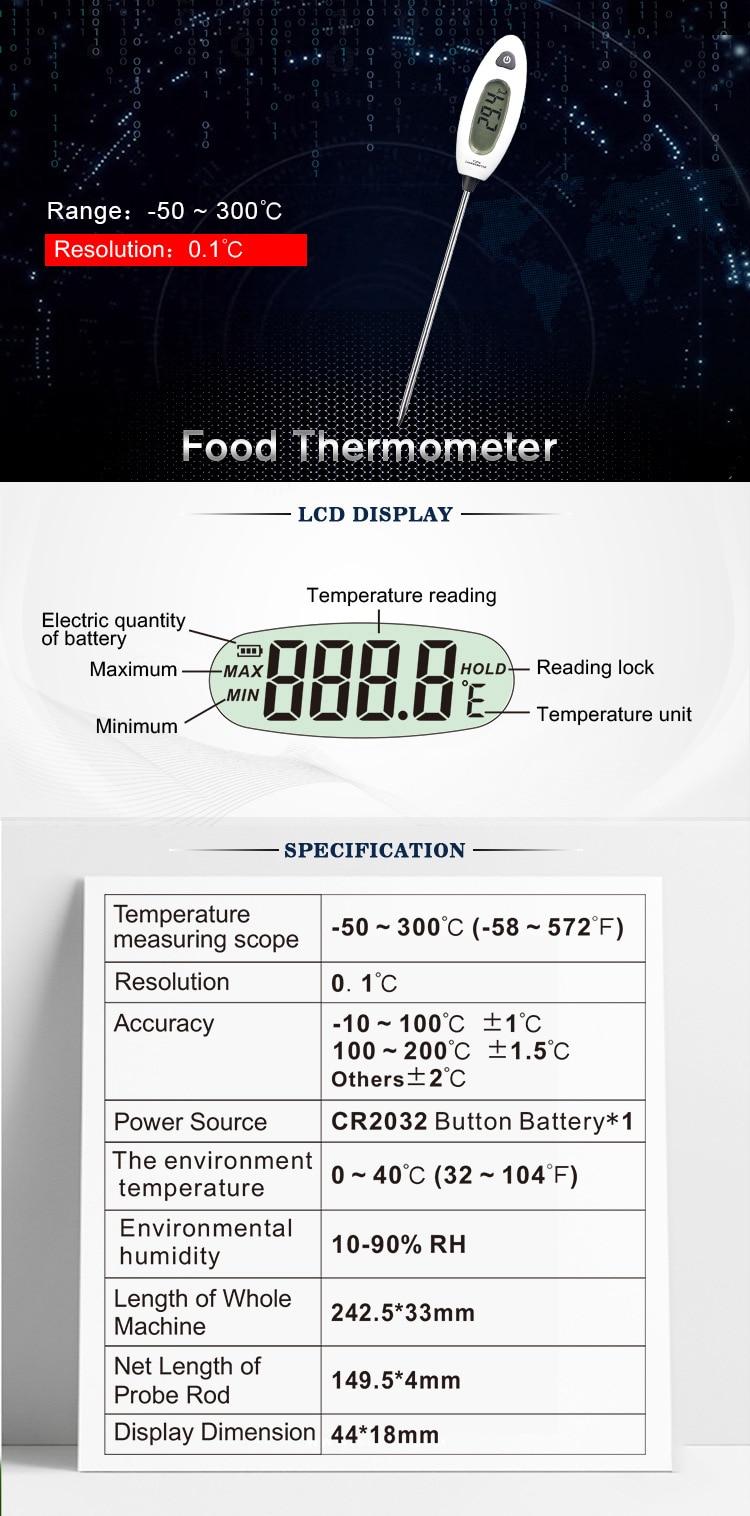 agregado familiar termômetro medidor forno termômetro ferramenta