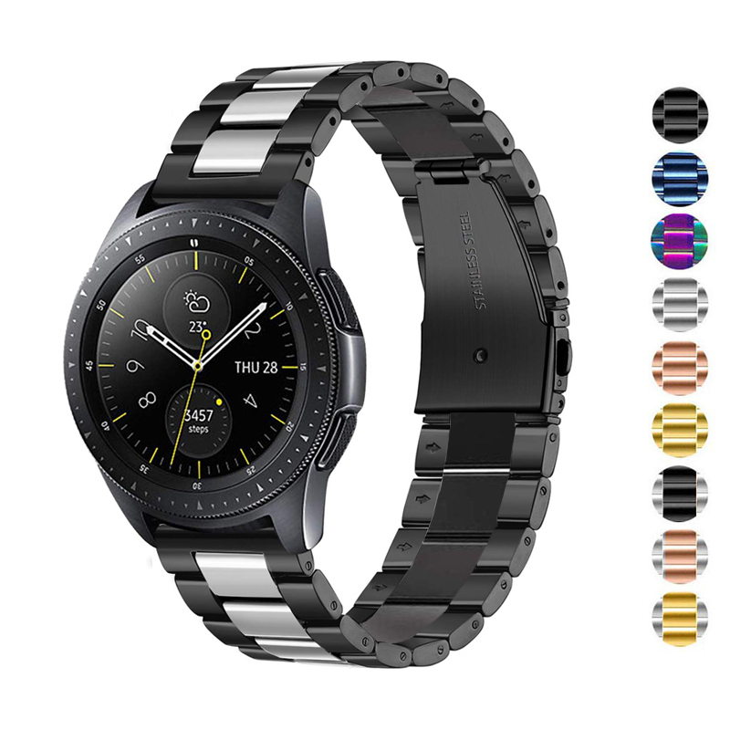 20mm/22mm Strap For Samsung Galaxy 46mm/42mm Gear S3 Frontier Huawei Watch Gt Band Stainless Steel Amazfit Bip Active 2 Bracelet