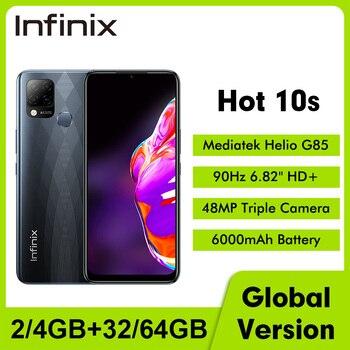 "Global Version Infinix Hot 10S NFC 6.95""FHD Smartphone 4GB 64/128GB 5000mAh 64MP Camera Octa-core Helio G85 Mobile Phone 1"
