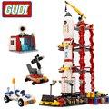 Город Гуди космический центр ракета космический челнок блоки 753 шт Кирпичи Строительные блоки подарок на день рождения Развивающие игрушки...