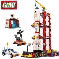 GUDI Stadt Raum Center Rakete Raum Shuttle Blöcke 753 stücke Bricks Bausteine Geburtstag Geschenk Pädagogisches Spielzeug Für Kinder-in Sperren aus Spielzeug und Hobbys bei