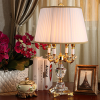 Fashion ofhead k9 crystal table lamp luxury high quality crystal table lamp for bedroom lobby table lamp de mesa lamparas
