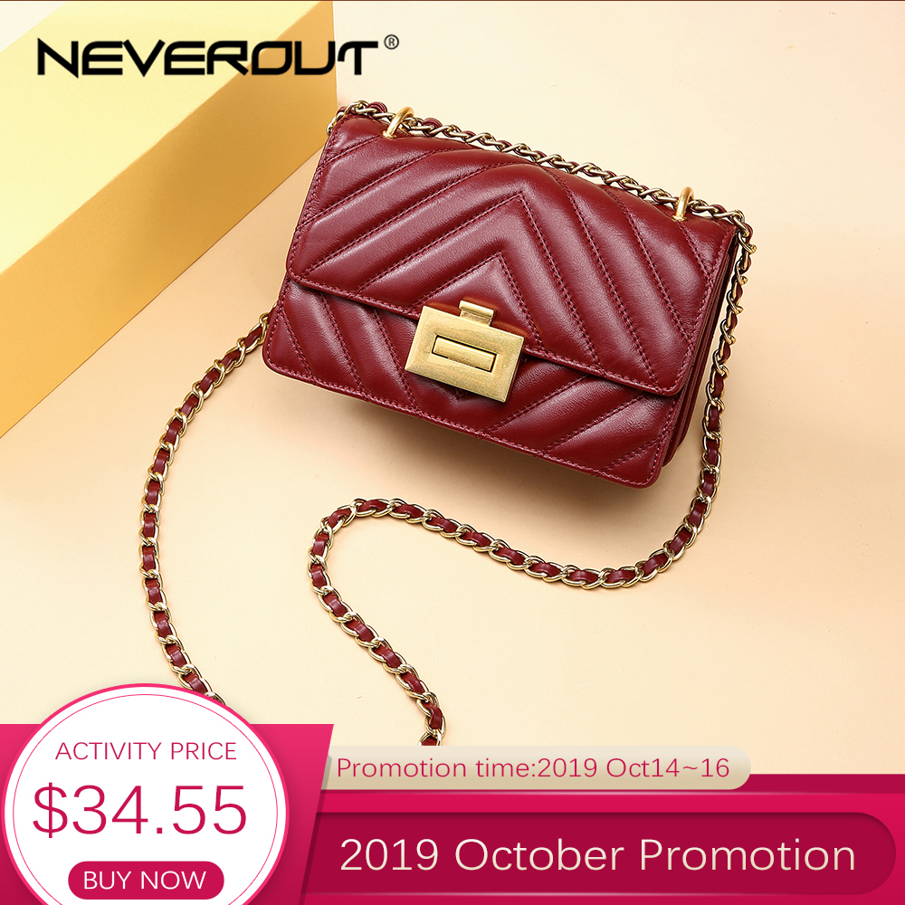 NEVEROUT Genuine Leather Small Flap Bags for Women 2019 High Quality Messenger Bags Ladies Crossbody Bag Handbag Girls Clutches