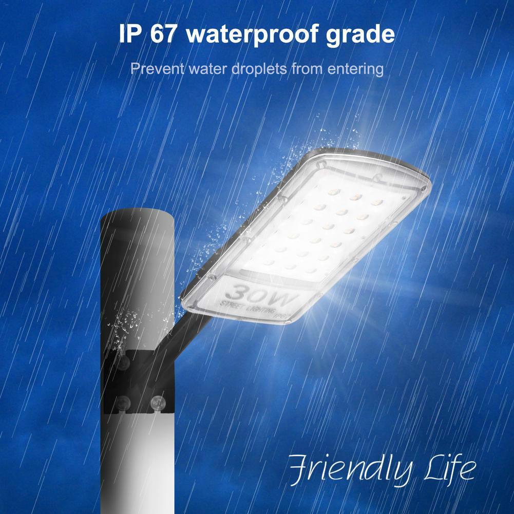 LED Energy-saving Street Licht 30W Straße Licht Mit Stange 220V Kühlen Weiße LED Lampe Sicherheit Außen wasserdicht IP65 Kalten Beleuchtung