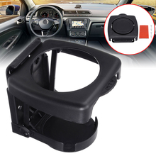 Car Interior Parts 1pc Black Universal Car Folding Cup Holder ABS Plastic Auto Beverage Drink Bottle Can Mount