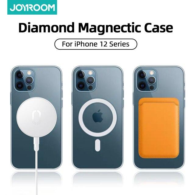Прозрачный Магнитный чехол Joyroom для телефона iPhone 12 Pro Max 12 Mini 1