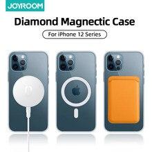 Joyroom – coque de luxe magnétique transparente pour iPhone, compatible modèles 12 Pro Max, 12 Mini, pour recharge sans fil