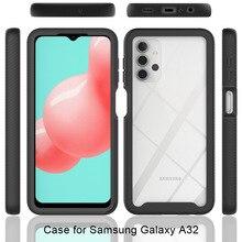 Coque souple antichoc avec panneau arrière transparent pour Samsung Galaxy A72, A12, A32, A42, A52, 4G, 5G, 5G