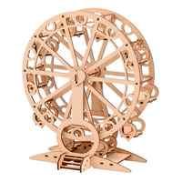 1 шт. деревянная модель колеса обозрения Diy Ручная работа колесо обозрения форма образовательный механический подарок для детей (стиль коле...