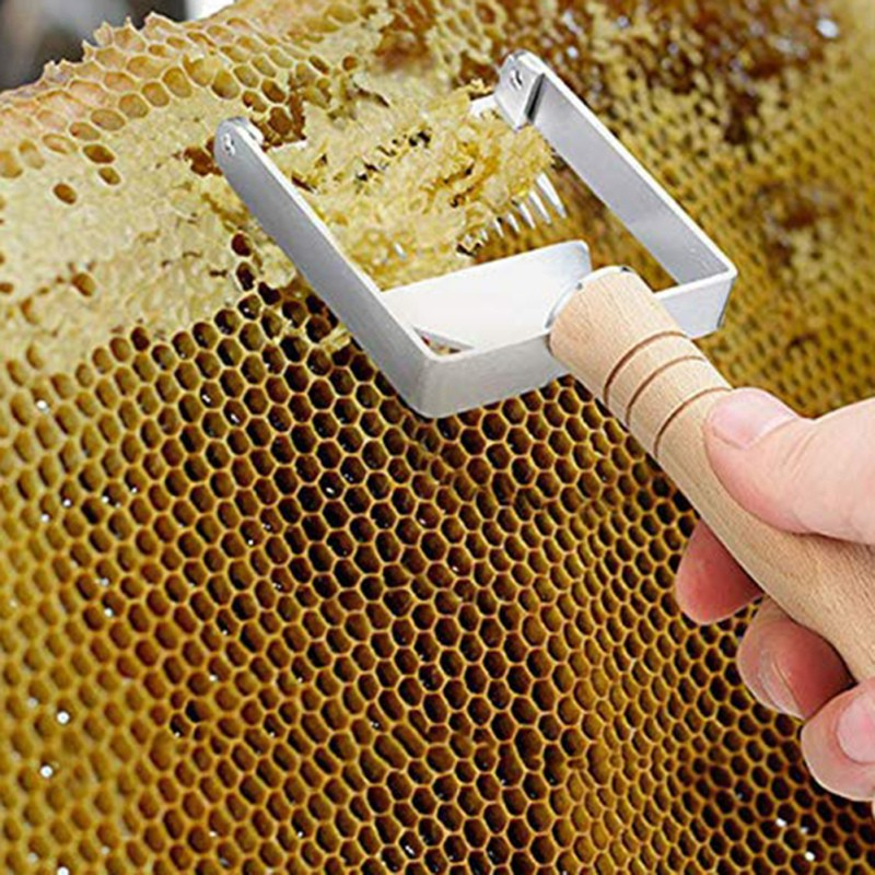 Adjustable Balanced Double Needle Beekeeping Tools Suitable For Uncapping Forks Honey Honeycomb Scraper Stainless Steel
