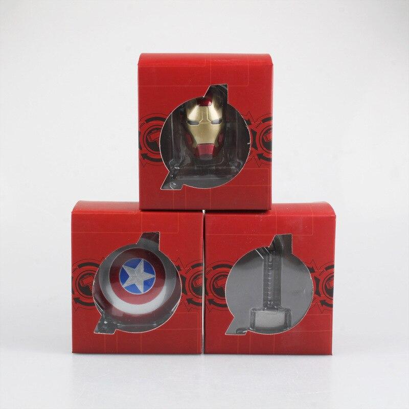 Superhero The Avengers Endgame Captain America Steve Rogers Thor Hammer Iron Man Mask Helmet Model Shield Cosplay Costume Prop