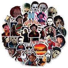 Autocollants d'horreur d'halloween, 50 pièces, étiquette de terreur d'halloween, étiquette de casque, moto, ordinateur portable, Skateboard, PS4, bricolage
