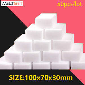 50pcs/lot Magic Sponge Eraser 100x70x30mm Melamine Sponge Cleaner Bathroom Kitchen Cleaning Sponges Household Cleaning Tools
