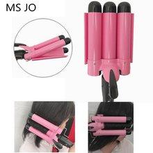 Professional Hair Curling Iron Ceramic Triple Barrel Hair Curler Irons Hair Wave Waver Styling Tools Hair Styler Wand(China)