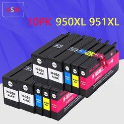 10PK kompatybilny do HP 950XL 951XL 950 951 wkłady atramentowe Officejet Pro 8100 8600 8610 8615 8620 8625 251dw 276dw dla HP950