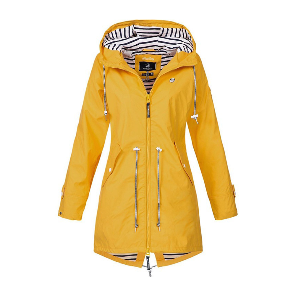 Windproof Zipper Soft Autumn Hooded Outdoor Waterproof Casual Long Sleeve Winter Drawstring Sport Women Hiking Jacket Camping