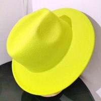Fedoras-sombrero fedora de color liso para mujer, sombrero de fiesta para mujer, sombrero de Iglesia, top, sombrero de jazz mezclado, sombrero de ala grande, redhat azul