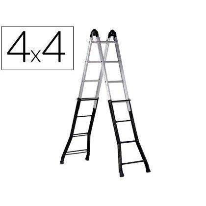 STAIRS TELESCOPICA STEEL 'S AND 'S ALUMINUM 4 + 4 + 4 + 4 PELDAÑOSCON EPOXY SURFACE TREATMENT