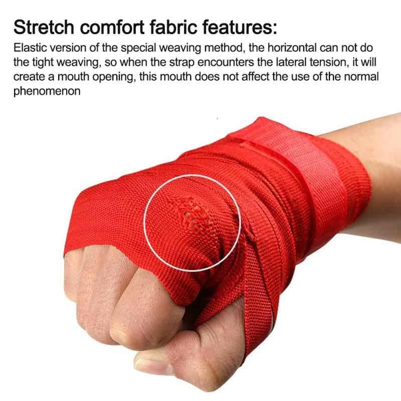 Vendas de boxeo de algodón de 2,5 m atadas a las manos con envolturas de lucha con Muay Thai Boxing molestas correas de mano con protector de mano TSLM2