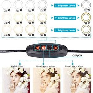 Image 5 - Suporte ajustável de led para câmera, suporte ajustável de 5.7 polegadas com anel luminoso para telefone de 35 100cm para filmagem de vídeo