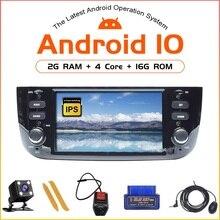 ZLTOOPAI Android 10.0 dla Fiat Linea Punto EVO 2012 2013 2014 2015 Radio samochodowe radioodtwarzacz Stereo nawigacja multimedialna GPS odtwarzacz