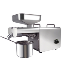 Stainless Steel Oil Press Machine with Temperature Control heating Press Peanuts coconut sesame Oil