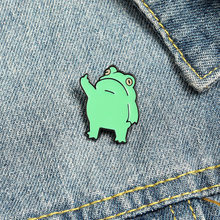 Funny Frog Enamel Pin Custom Cool Animal Brooches Bag Lapel Pin Cartoon Froggy Badge Jewelry Gift For Friends