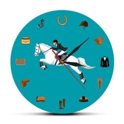 Sprzęt jeździecki Sport nowoczesny akrylowy ścienny wiszący zegar koń akcesoria do jazdy zegar ścienny Equestrianism Horse Lover prezent