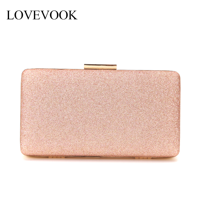 LOVEVOOK Women Evening Clutch Luxury Handbag Women Bags Design Purse And Clutch For Party Shiny Evening Bag Messenger Bag Female