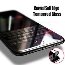 Закаленное стекло с изогнутыми краями для iPhone 6 6S 7 8 Plus SE 2020 X Xr Xs, Защита экрана для iPhone 11 12 Pro Max, защитная пленка
