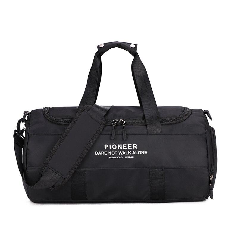Fashion Sports Bags Big Men/Women Travel Bag Shoulder Black Sport dry and wet separation sports bag shoulder Messenger bag