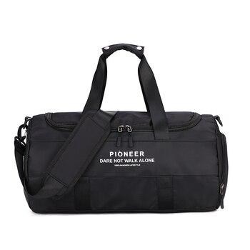 Fashion Sports Bags Big Men/Women Travel Bag Shoulder Black Sport dry and wet separation sports bag shoulder Messenger bag fashion checked and black design women s shoulder bag