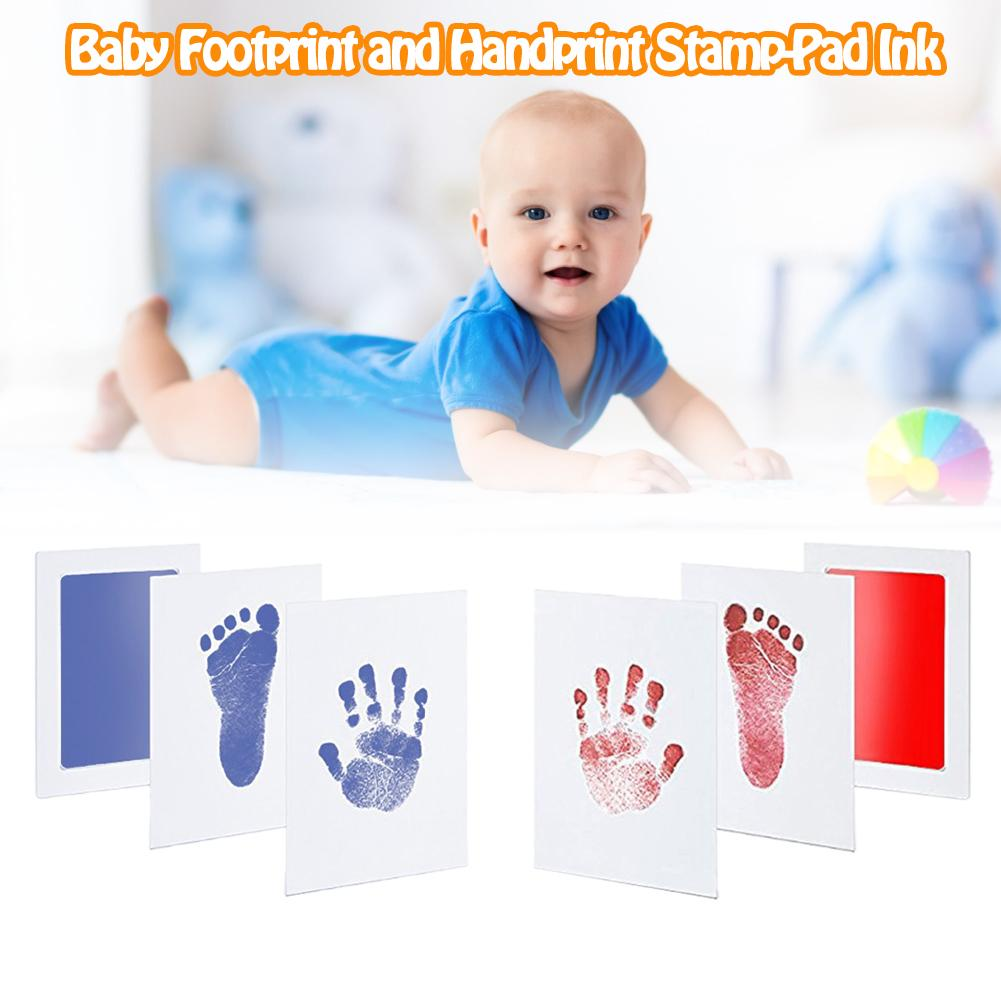 Anti-Virus Infection Baby Special Hand And Foot Prints Memory Cards Hands Footprints Disposable Ink No Direct Contact With Inkes