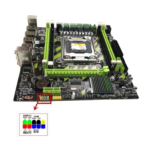 X79G Motherboard LGA 2011 DDR3 Mainboard with M.2 Interface E5 2620 CPU 2x4G Memory Card for In-tel Xeon E5 Core I7 CPUs 1