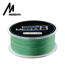 купить Meredith Mega8 Fishing Line 300M 8 Strands Braided Fishing Line Multifilament PE Line 10LB 15LB 20LB 25LB 30LB 40LB 50LB дешево