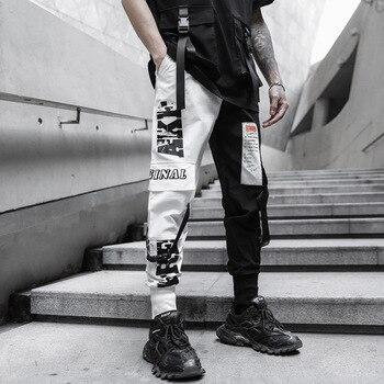 2020 New Men Fashion Multi-pocket Elastic Waist Harem Pant Streetwear Punk Hip Hop Casual Trousers Joggers Dropshipping