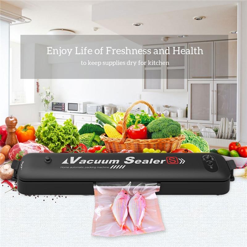 Электрический пищевой вакуумный упаковщик, упаковочная машина для дома, кухни, вакуумная упаковочная машина для пищевых продуктов с 15 бесп...