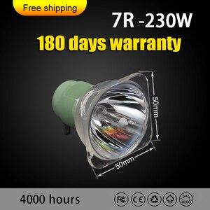 Image 2 - מכירה לוהטת משלוח חינם 7R 230w מתכת הליד נע מנורת הנורה Beam 230 סיריוס HRI230W עבור Osram תאורה