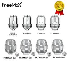 5 sztuk partia cewki Freemax Twister X1 X2 X3 X4 TX wymiana cewki siatki dla FreeMax Fireluke 2 zbiornik dla Freemax Twister Vape Kit tanie tanio Freemax Twister Replacement Coil Freemax Fireluke 2 Tank DS Dual 40-70W 60-90W 80-100W 400-550 F