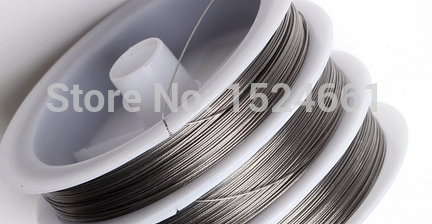 Silver Color Tiger Tail Beading Wire 0.3/0.38/0.45/0.5/0.6/0.7/0.8mm  * Sewing Thread Wire Nylon Cord Jewelry Making